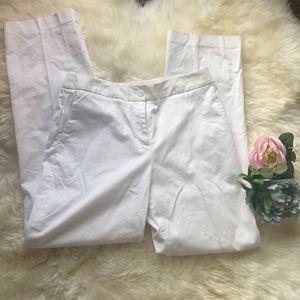 Pendleton white cotton pants 8 petite